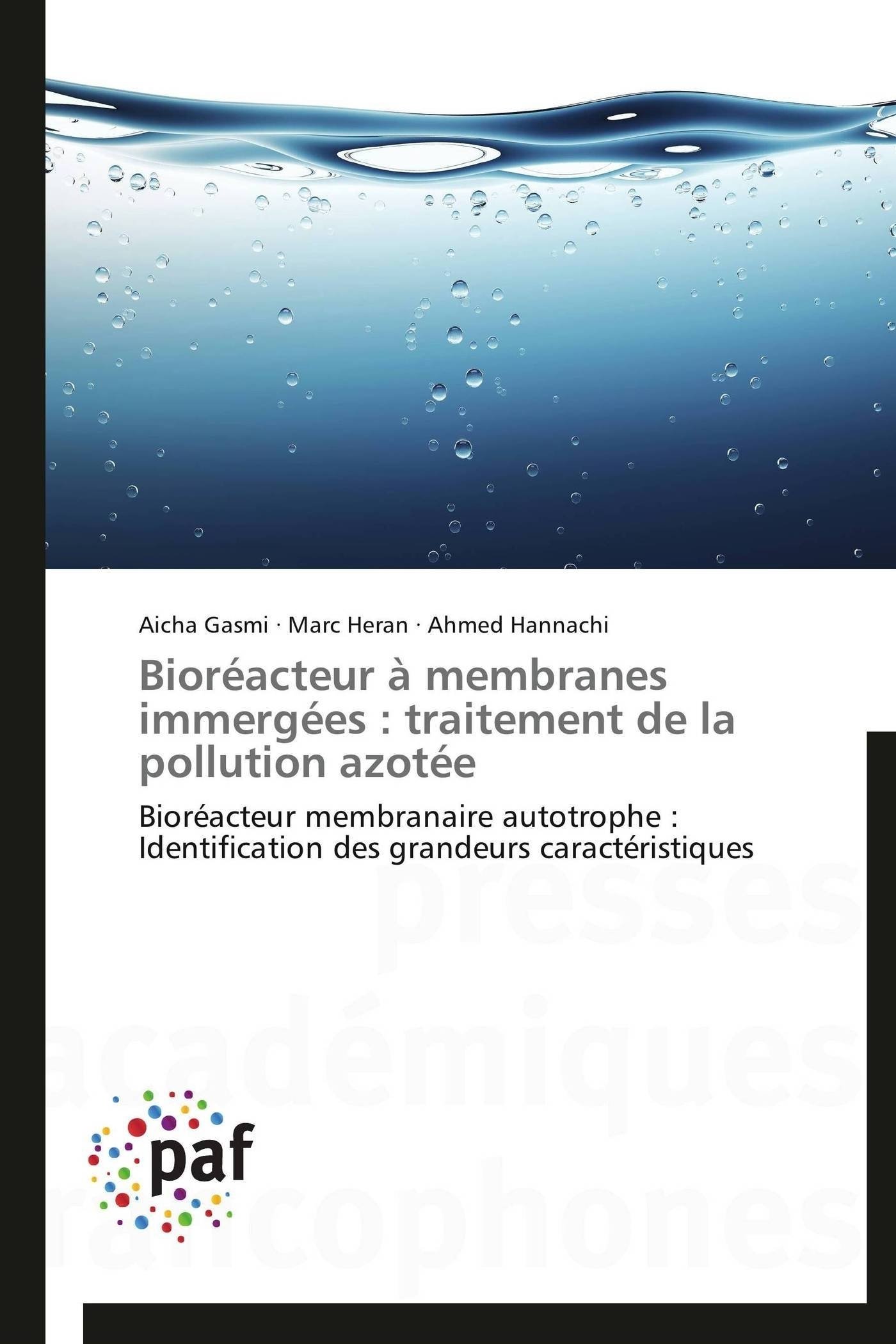 BIOREACTEUR A MEMBRANES IMMERGEES : TRAITEMENT DE LA POLLUTION AZOTEE