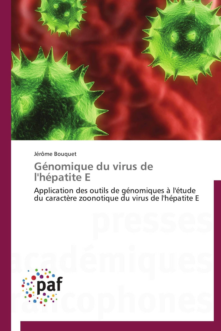 GENOMIQUE DU VIRUS DE L'HEPATITE E