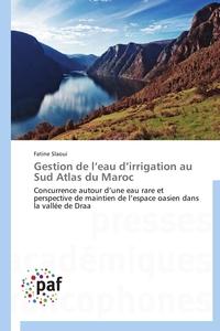 GESTION DE L EAU D IRRIGATION AU SUD ATLAS DU MAROC