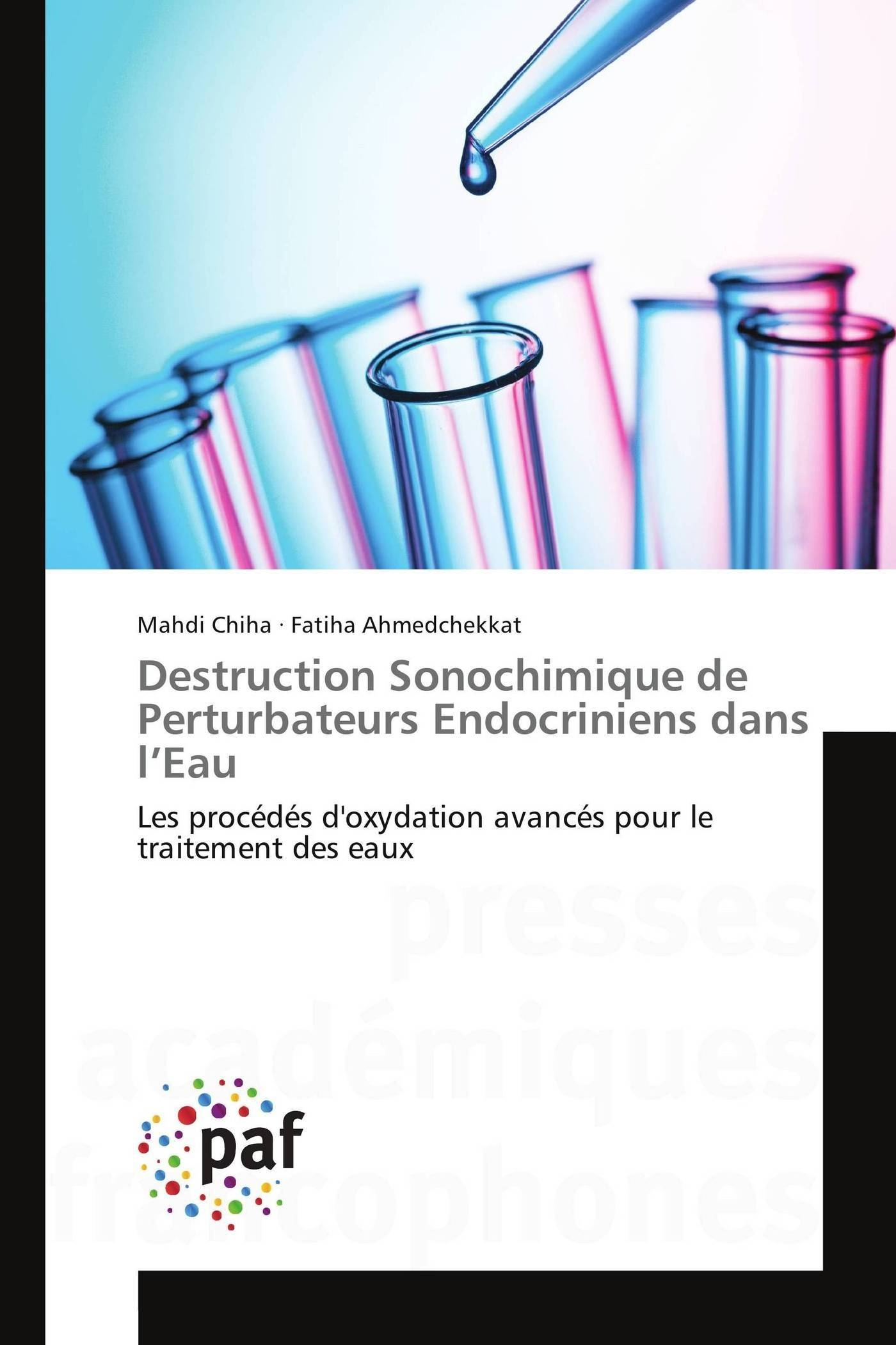 DESTRUCTION SONOCHIMIQUE DE PERTURBATEURS ENDOCRINIENS DANS L EAU