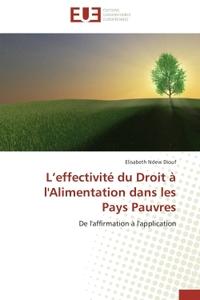 L EFFECTIVITE DU DROIT A L'ALIMENTATION DANS LES PAYS PAUVRES