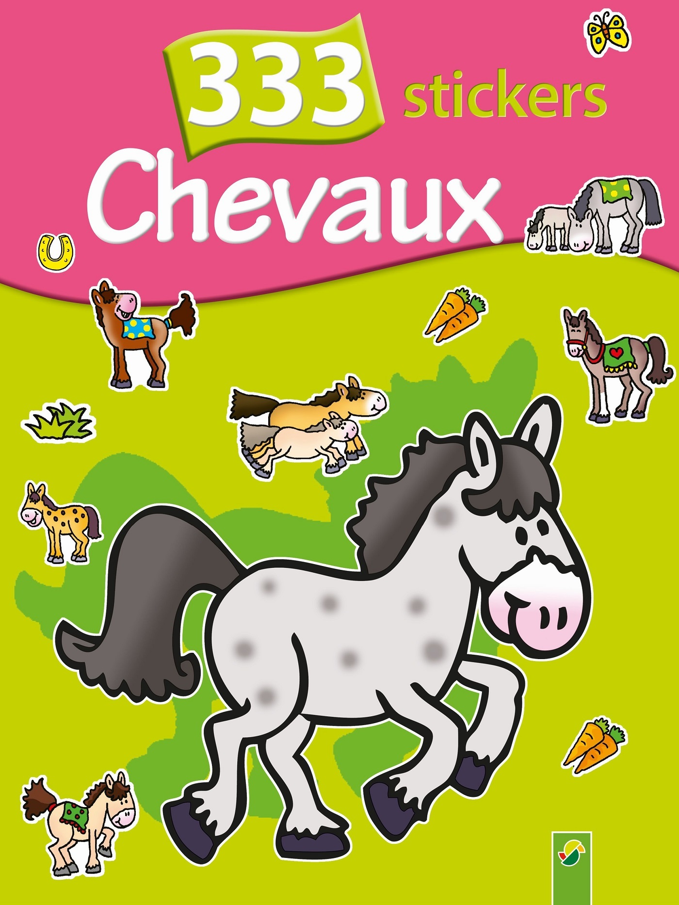 333 STICKERS CHEVAUX