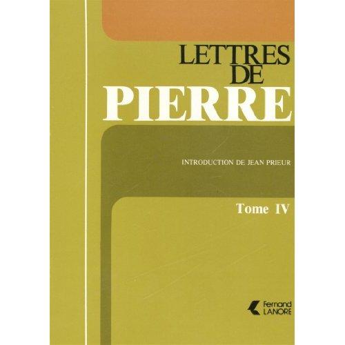 LETTRES DE PIERRE T4