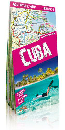 CUBA 1/650.000 (ANG) (CARTE D'AVENTURE)