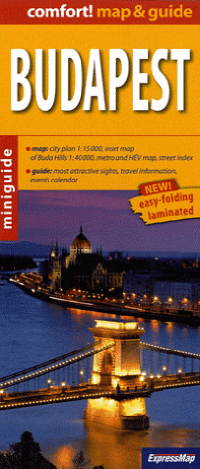 BUDAPEST (COMFORT !MAP&GUIDE, CARTE LAMINEE)