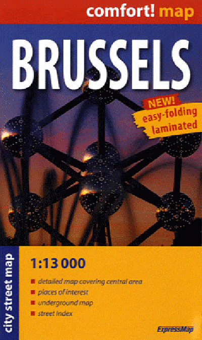 BRUSSELS (GB)  1/13.000 (COMFORT !MAP, POCHE)