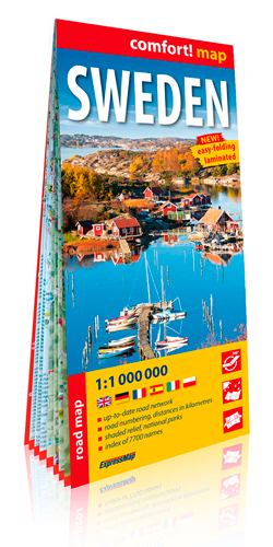 SUEDE 1/1M ANG (SWEDEN - CARTE LAMINEE GRAND FORMA
