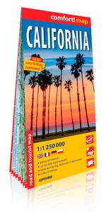 CALIFORNIE  1/1.250.000 (GB) (COMFORT !MAP, LAMINEE)