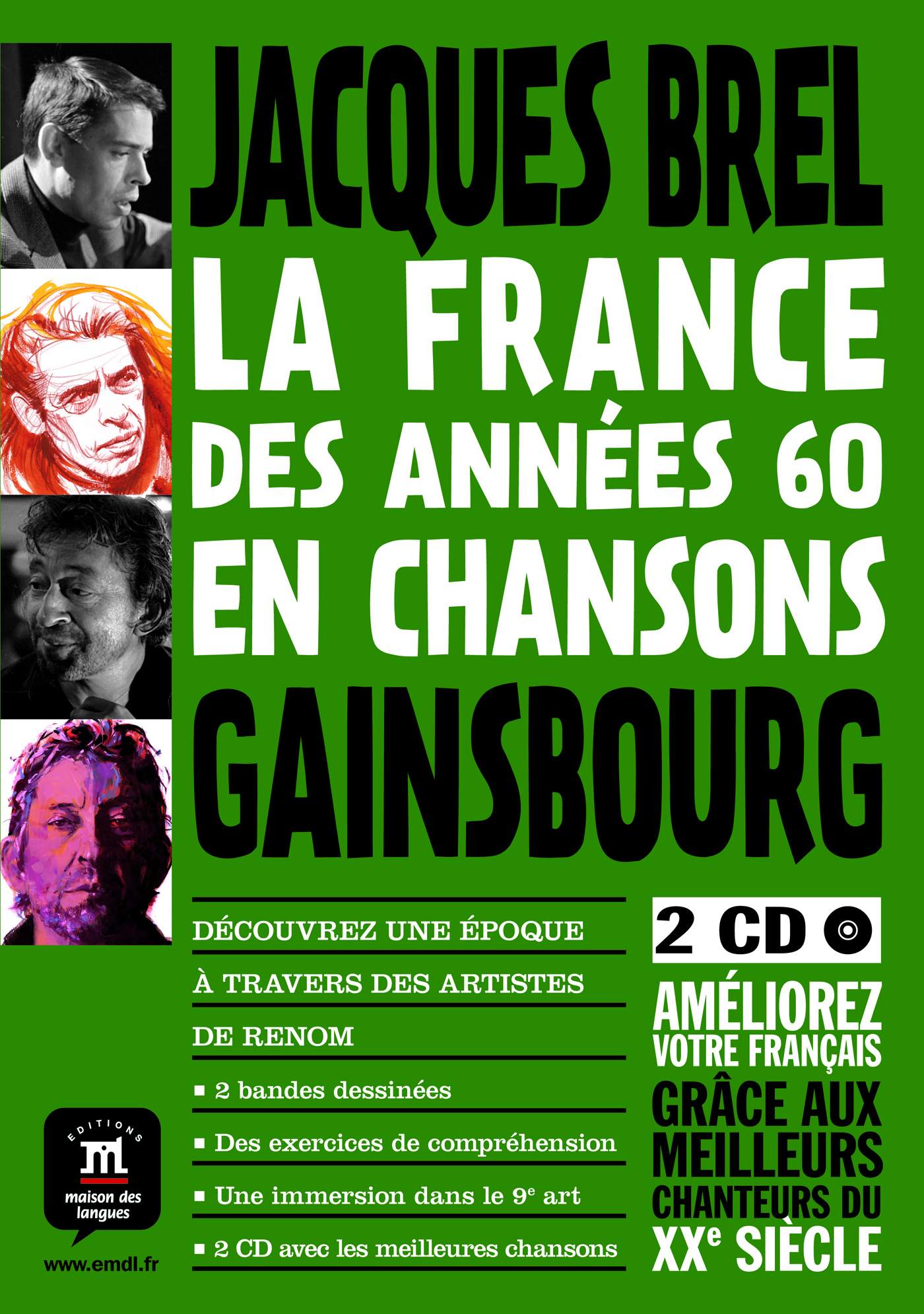FRANCE DES ANNEES 60 EN CHANSON (LA)-GAINSBOURG BREL BARBARA