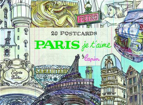 PARIS, JE T'AIME - 20 POSTCARDS