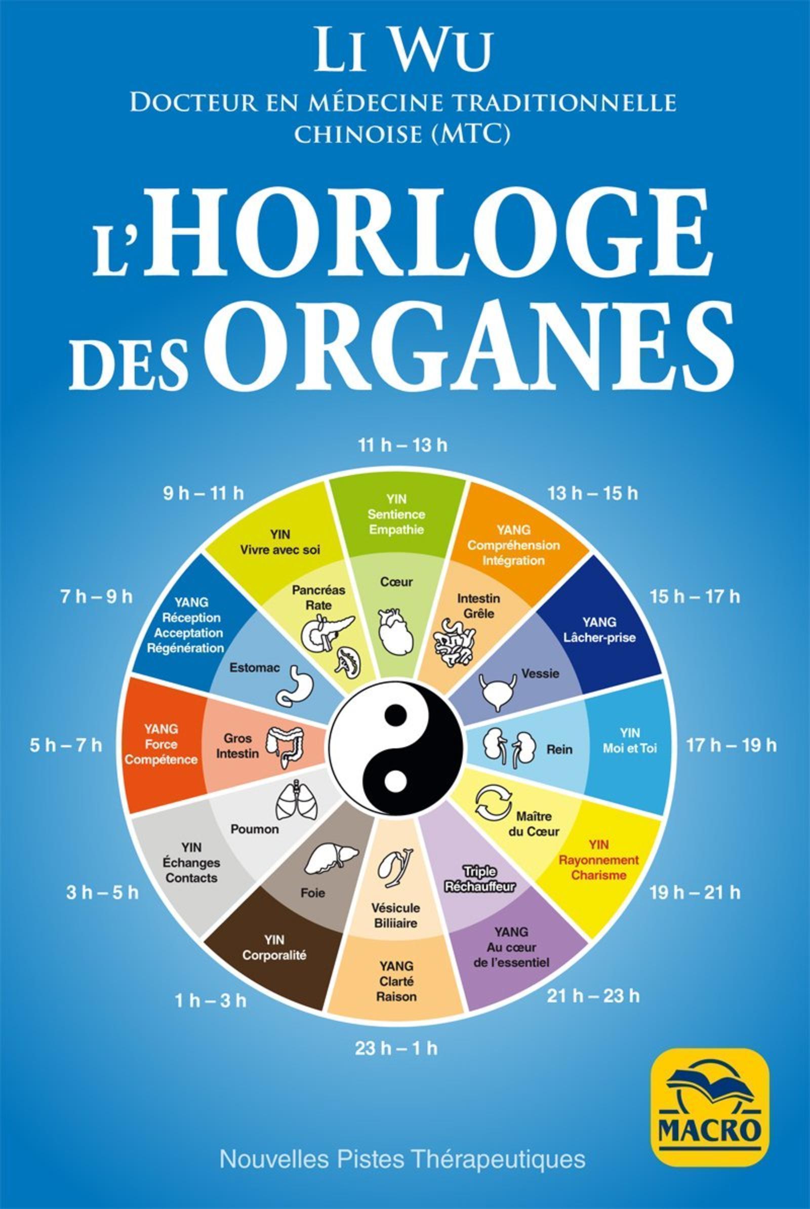 L HORLOGE DES ORGANES - VIVEZ EN HARMONIE AVEC LES RYTHMES NATURELS DE VOTRE CORPS