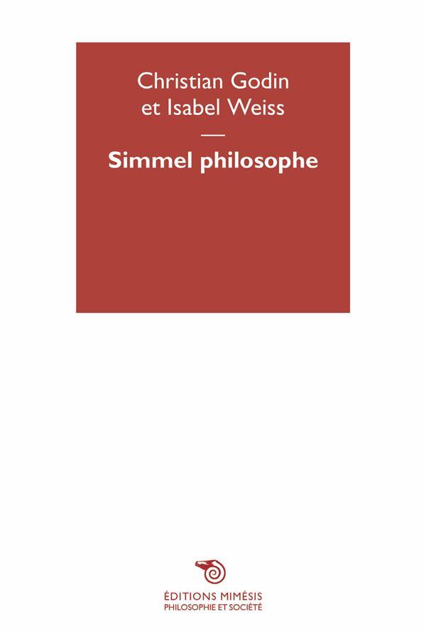 SIMMEL PHILOSOPHE