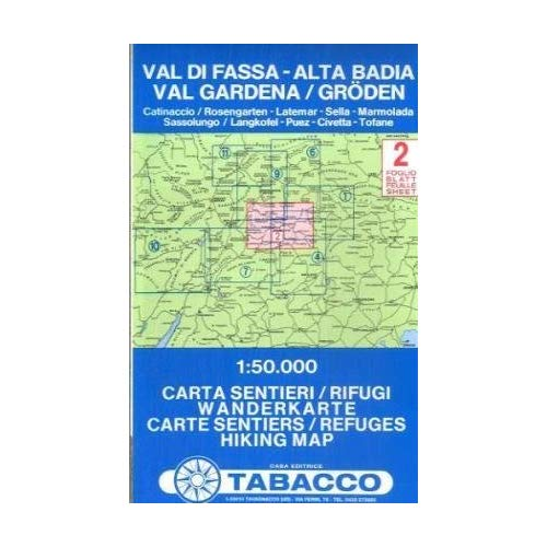 VAL DI FASSA/ALTA BADIA 2  1/50.000