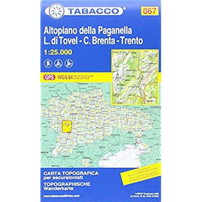 ALTOPIANO DELLA PAGANELLA/L. DI TROVEL/C. BRENTA/TRENTO 067 1/25.000
