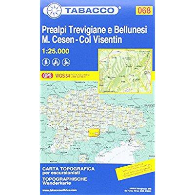 PREALPI TREVIGIANE E BELLUNESI/CESEN/VISENTIN 068 1/25.000