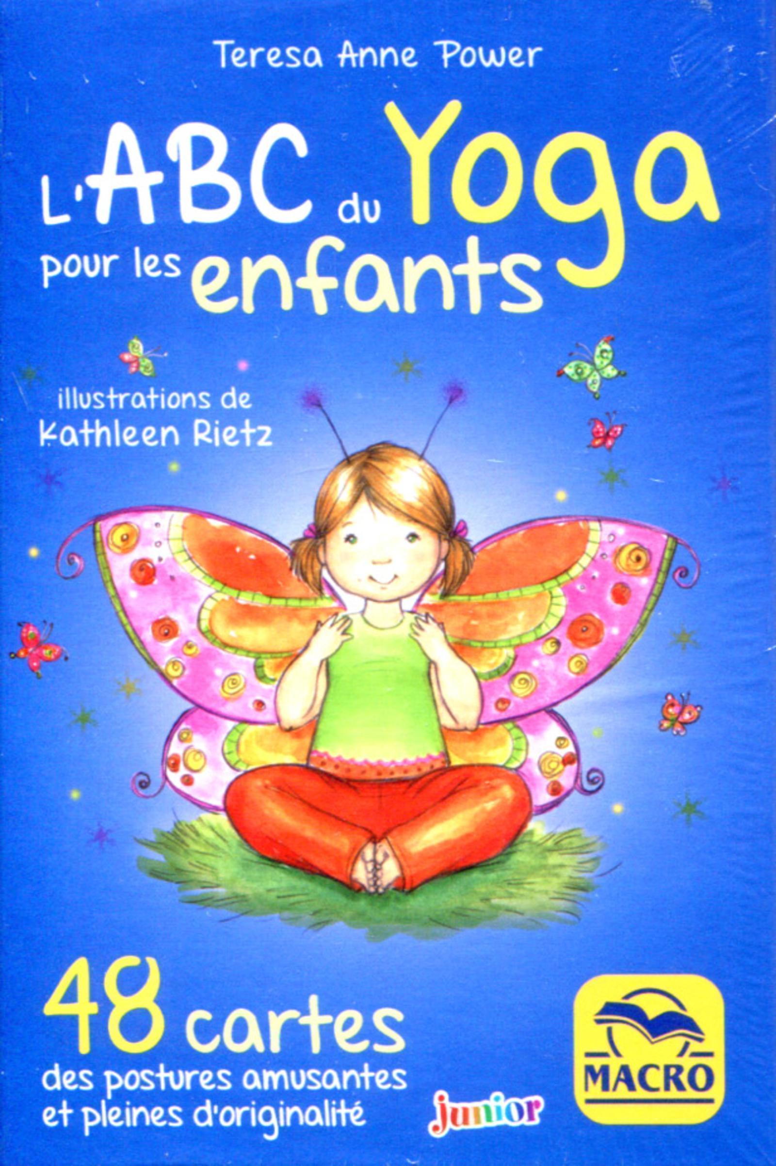 COFFRET L ABC DU YOGA POUR LES ENFANTS - 48 CARTES DES POSTURES AMUSANTES ET PLEINES D ORIGINALITE