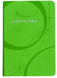 LA SAINTE BIBLE 1910 SIMILI VERT, TR.ARGENT
