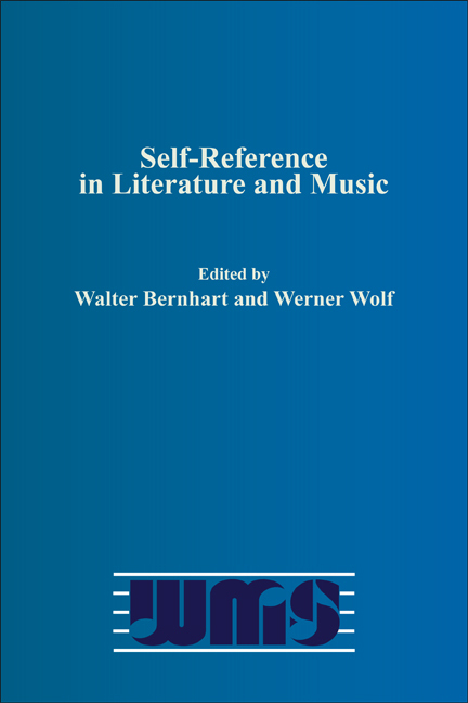 SELF-REFERENCE IN LITERATURE AND OTHER MEDIA