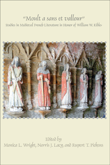 MOULT A SANS ET VALLOUR. STUDIES IN MEDIEVAL FRENCH LITERATURE IN HONOR OF WILLIAM W. KIBLER