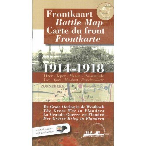 CARTE DU FRONT 1914-1918 - LA GRANDE GUERRE EN FLANDRE  - EN 4 LA