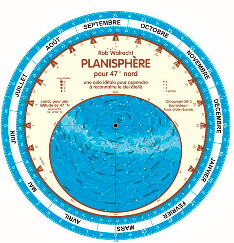 PLANISPHERE POUR 47  NORD