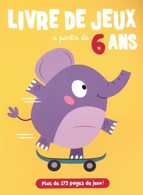 LIVRE DE JEUX ELEPHANT A PARTIR DE 6 ANS