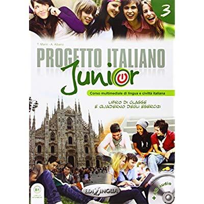 PROGETTO ITALIANO JUNIOR 3  LIBRO DELLO STUDENTE & QUADERNO + CD AUDIO + DVD  176 PAGES