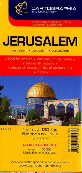 JERUSALEM (PLAN CARTOGRAPHIA)