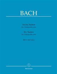 SIX SUITES POUR VIOLONCELLE BWV 1007-1012