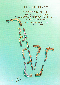 DANSEUSES DE DELPHES - DES PAS SUR LA NEIGE - HOMMAGE A S. PICKWICK--(EX. PRELUDES LIVRES I ET II)