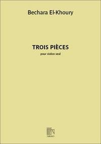TROIS PIECES POUR VIOLON SEUL VIOLON