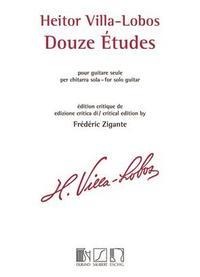 DOUZE ETUDES POUR GUITARE SEULE GUITARE