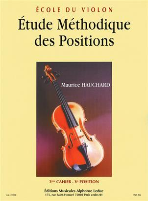 HAUCHARD: ETUDE DES POSITIONS VOLUME 3 VIOLON
