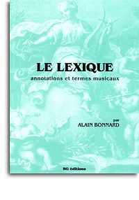 ALAIN BONNARD: LE LEXIQUE