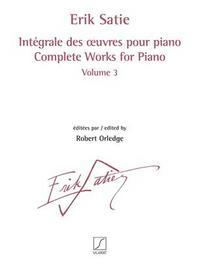 INTEGRALE DES  UVRES POUR PIANO VOLUME 3 PIANO