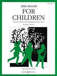 BELA BARTOK FOR CHILDREN, VOLUME 2 PIANO