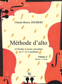 METHODE D'ALTO VOL.3 - 12 ETUDES EN 1ERE ET 3E POSITIONS --- ALTO