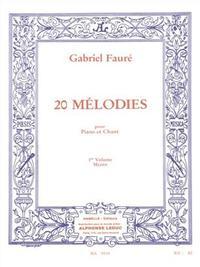 20 MELODIES POUR PIANO ET CHANT VOL 1 MEZZO