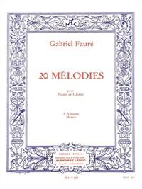 20 MELODIES POUR PIANO ET CHANT VOL 3 MEZZO