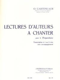 ODETTE GARTENLAUB - LECTURES D AUTEURS A CHANTER POUR LE PREPARATOIRE