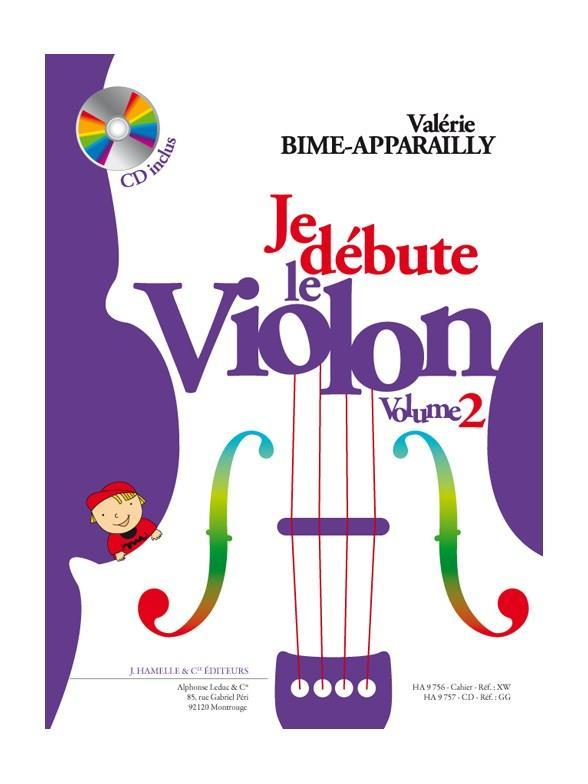 VALERIE BIME-APPARAILLY: JE DEBUTE LE VIOLON VOL. 2 (BOOK)