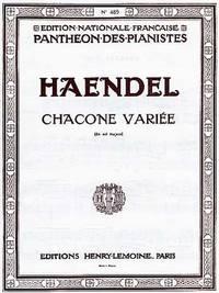 CHACONNE VARIEE EN SOL MAJ. --- PIANO
