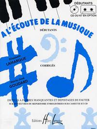 A L'ECOUTE DE LA MUSIQUE DEBUTANT - PROFESSEUR --- FORMATION MUSICALE