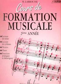 COURS DE FORMATION MUSICALE VOL.2 --- FORMATION MUSICALE