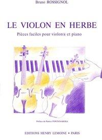 LE VIOLON EN HERBE --- VIOLON ET PIANO