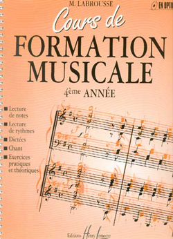 COURS DE FORMATION MUSICALE VOL.4 --- FORMATION MUSICALE