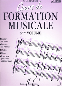 COURS DE FORMATION MUSICALE VOL.6 --- FORMATION MUSICALE