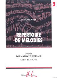 REPERTOIRE DE MELODIES VOL.2 --- FORMATION MUSICALE