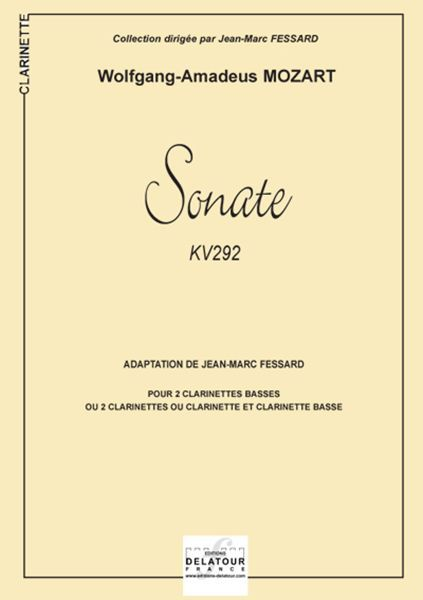 SONATE KV 292 POUR 2 CLARINETTES