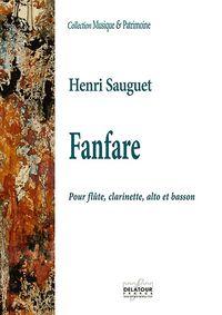 FANFARE POUR FLUTE, CLARINETTE, ALTO ET BASSON